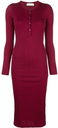 Fleur Du Mal ribbed knit midi dress