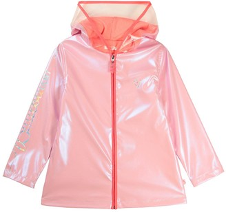 Billieblush Girls Shimmer Rain Coat - Pale Pink