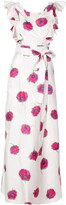 Thumbnail for your product : La DoubleJ Floral Ruffled Midi Dress