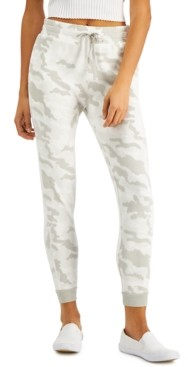 Planet Gold Juniors' Camo-Print Fleece Jogger Pants
