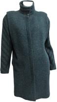 Gianni Versace Green Wool Coat for Women Vintage