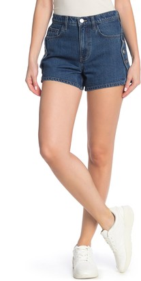 Current/Elliott The Highball Button Trim Denim Shorts