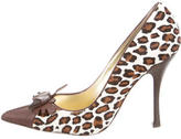 DSQUARED2 Pointed-Toe Ponyhair Pumps