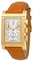 Bulgari Rettangolo Chronograph 18K Yellow Gold Mens Watch