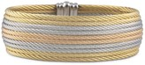 Alor Grey, Rose & Yellow Stacked Cable Bangle