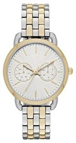 Merona Women's Five Link Two Tone Watch Silver/Gold
