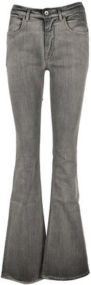 Rick Owens Washed Boot Cut Jeans
