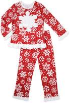 Sara's Prints Girls Snowflake 2-Piece Pajama Set, Kids