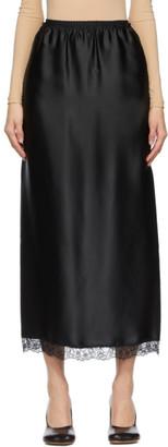 MM6 MAISON MARGIELA Black Satin Skirt