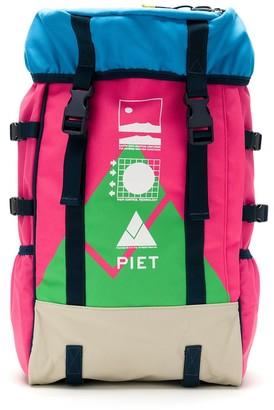 Piet EEU color block backpack