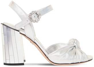Dolce & Gabbana 100mm Keira Leather & Mirror Sandals