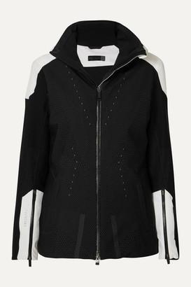 Kjus Freelite Hooded Paneled Printed Stretch-knit Ski Jacket - Black