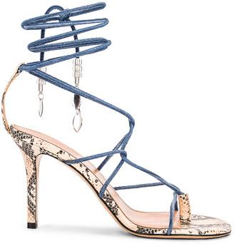 Isabel Marant Askee Sandal in Blue | FWRD