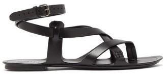 Saint Laurent Culver Leather Sandals - Mens - Black