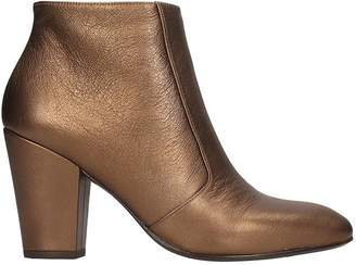 Chie Mihara El-huba High Heels Ankle Boots In Bronze Leather