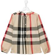 Burberry Haymarket check blouse - kids - Cotton - 14 yrs