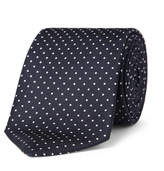 Turnbull & Asser 8cm Polka-dot Silk Tie - Navy