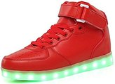 GlideKicks LED Light Up Hi-Top Shoes 11 Color Patterns, USB Rechargeable, Sneakers for Men, Women, Boys, & Girls