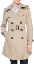 BCBGeneration Hooded Double-Breasted Trench