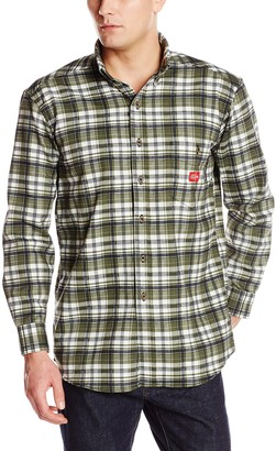 Dickies Men's Big Flame-Resistant Long Sleeve Plaid Shirt