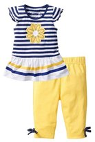 Donalworld Summer Girls Outfit Daisy T-shirt Bow Pants Suit 2PCS Set