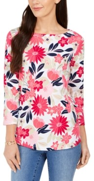 Charter Club Floral Print Top, Created for Macy's