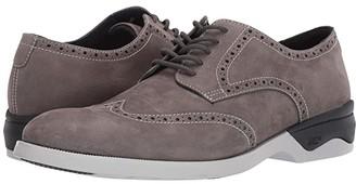 Johnston & Murphy Waterproof XC4(r) Elkins Casual Wing Tip Oxford (Black Leather) Men's Shoes