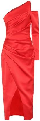 Rasario One-shoulder satin midi dress