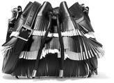 Proenza Schouler Two-tone fringed leather shoulder bag