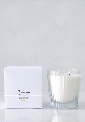 The White Company Large Ribbed Candle