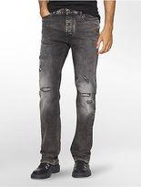 Calvin Klein Mens Straight Leg Capri Wash Jeans