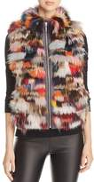 Maximilian Furs Saga Fox Fur Mixed Media Vest - 100% Exclusive