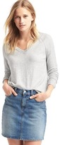 Soft open V-neck sweater