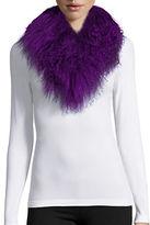 Adrienne Landau Mongolian Lamb Fur Clip Scarf