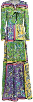 Philosophy di Lorenzo Serafini Bow-detailed Printed Twill Maxi Dress