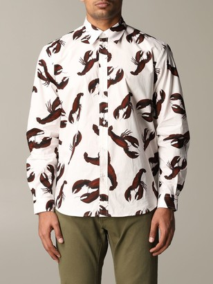 MSGM Shirt With All Over Lobster Print