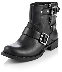 "Nine West Vintage America Collection® ""Tieler"" Boot with Strap Details - Black"
