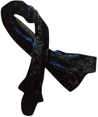 Dolce & Gabbana Black Velvet Scarves