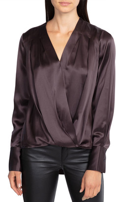 Rag & Bone Lei Pleated Surplice Blouse