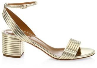 Aquazzura Sundance Metallic Sandals