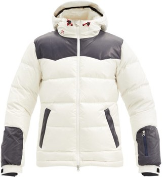 Perfect Moment Pirtuk Ii Leather-trimmed Quilted Down Ski Jacket - White