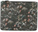 Givenchy baboon print clutch - men - Cotton/Polyester/Polyurethane - One Size