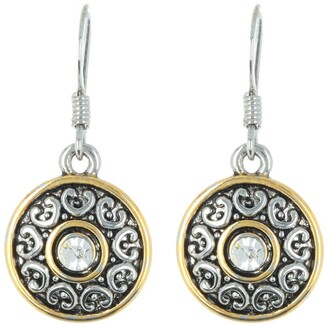 Area Stars Antique Styled Medallion Drop Earrings