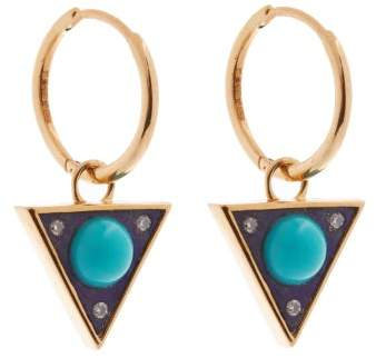 Noor Fares Vishuddha Diamond, Lapis & Gold Earrings - Womens - Blue