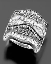 Sterling Silver Marcasite & Crystal Ring