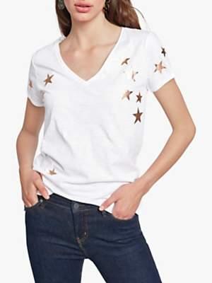 Hush Star Print Slub T-Shirt