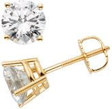 14k Gold 2-ct. T.W. IGL Certified Round-Cut Diamond Solitaire Earrings