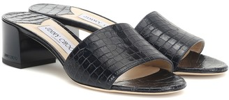 Jimmy Choo Joni 40 croc-effect leather sandals
