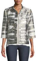 Misook Graphic Metallic Short Jacket