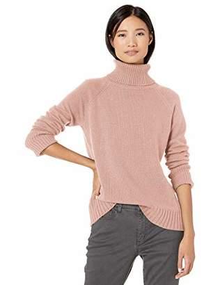 Goodthreads Wool Blend Jersey Stitch Turtleneck Sweater Pullover,Medium